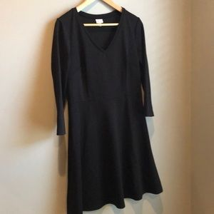 Black Merona 3/4 sleeved dress. Fitted bodice.